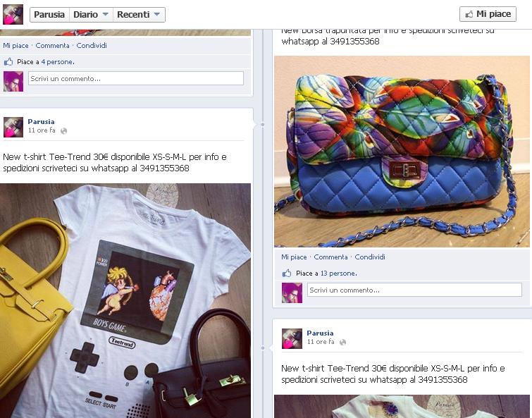 social media marketing solo prodotti